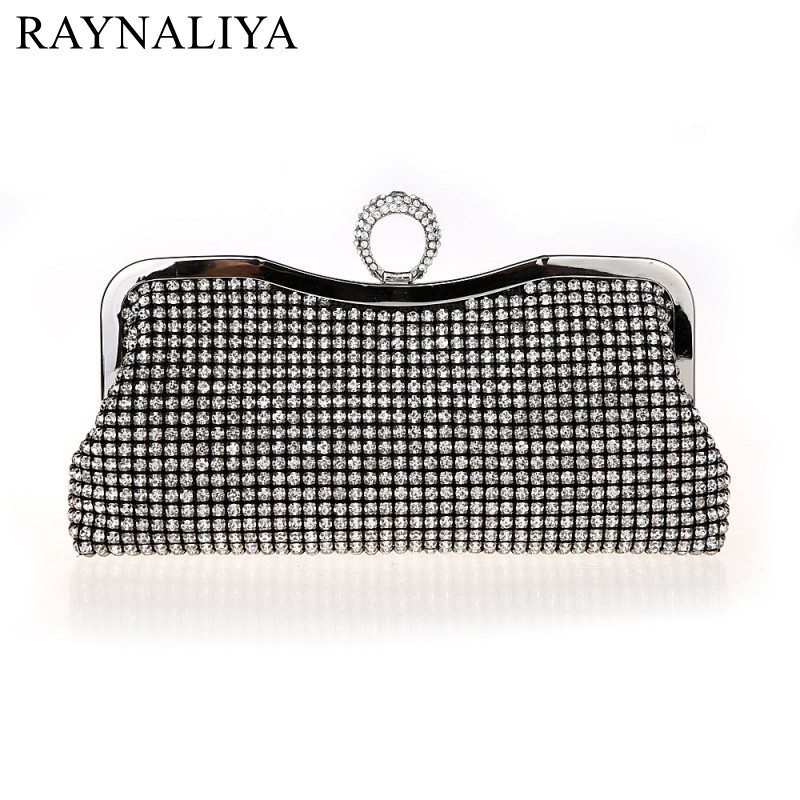 Lady New Design Dinner Full Diamond Banquet Handbag Flash Drill Bag Nightclub Clutch Party Sequined Evening Bags Smysfx-e0256 europe new upscale butterfly diamond evening bag full diamond party handbag clutch