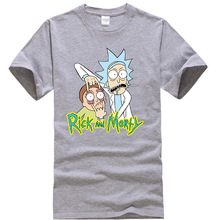 crewneck loose rick and morty printed men t-shirt RK