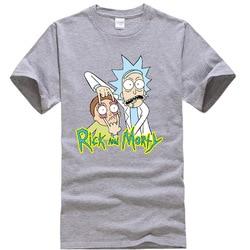 Męska wysokiej jakości koszulka 100% bawełna crewneck luźne rick i morty drukowane mężczyźni Tshirt dorywczo dzianiny MĘSKA KOSZULKA topy 2