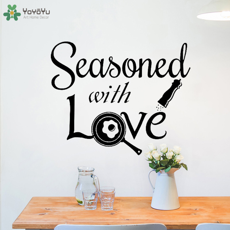 Kitchen Wall Decal Quotes Seasoned With