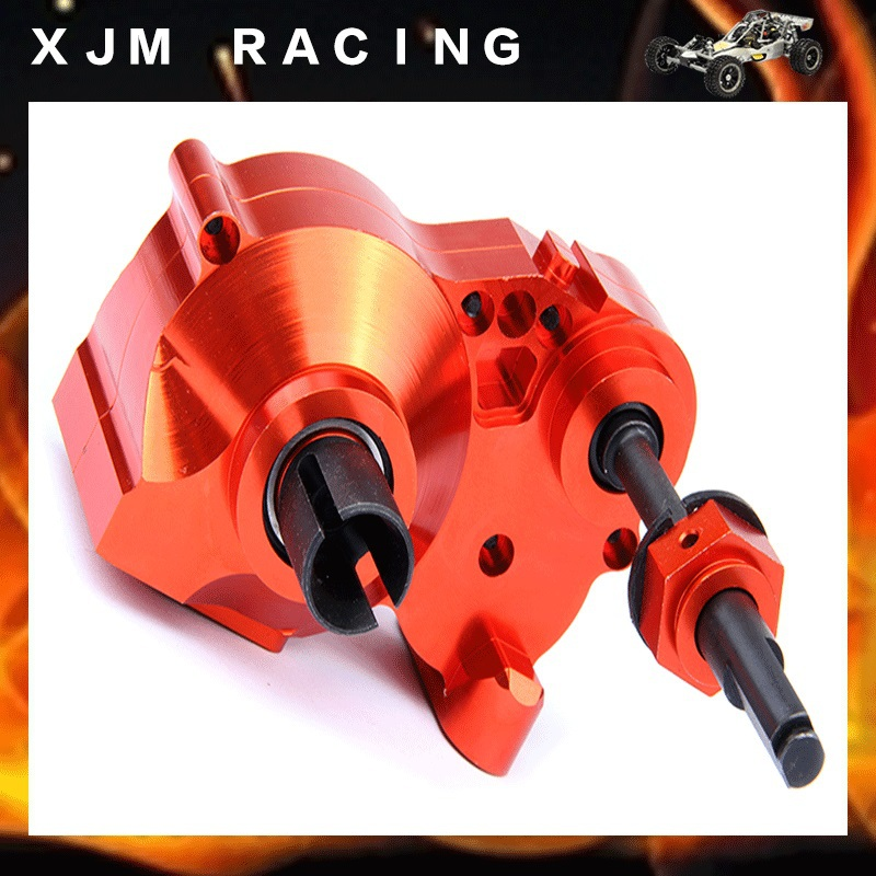 Rc Car CNC Heavy Duty metal complete diff gear box HPI Rovan KM BAJA 5b 5t 5sc flywheel magneto fits 23cc 26cc 29cc 30 5cc cy fuelie engine for 1 5 hpi baja 5b 5t sc km rovan rc car toy parts