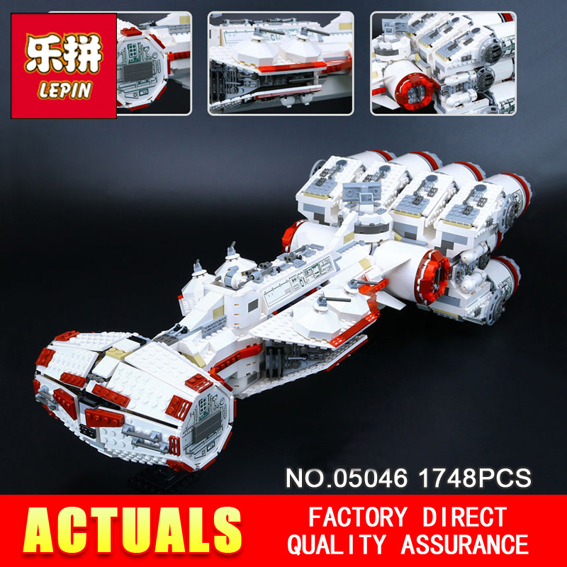 Lepin 05046 Star 1748Pcs Series Wars The Tantive IV Blockade Runner 10019 Educational Building Blocks Bricks for Boy's DIY toy taming the star runner