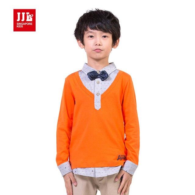 Мальчики футболки мода fasle две для мальчиков одежда дети бренд 2015 новости дети футболки красивый мальчиков одежда размер 6-15y