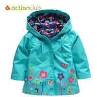 Actionclub 2016 Girls Jacket Outerwear Baby Girls Coat Kids Spring Autumn Clothes Girls Fashion Trench Children