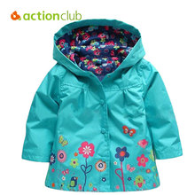 Actionclub 2016 Girls Jacket Outerwear Baby Girls Coat Kids Spring Autumn Clothes Girls Windbreaker Hoodies Children Clothing