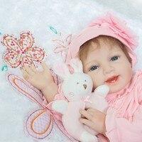 55cm Real Life Like Newborn Baby Reborn Silicone Baby Doll Toys for Girls baby reborn menina de silicone menina 55 cm