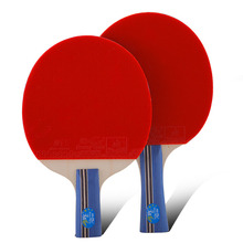 цена на Original Double fish 3stars 3A table tennis rackets racquet bat sports wood blade fast attack loop for amateur entertain players
