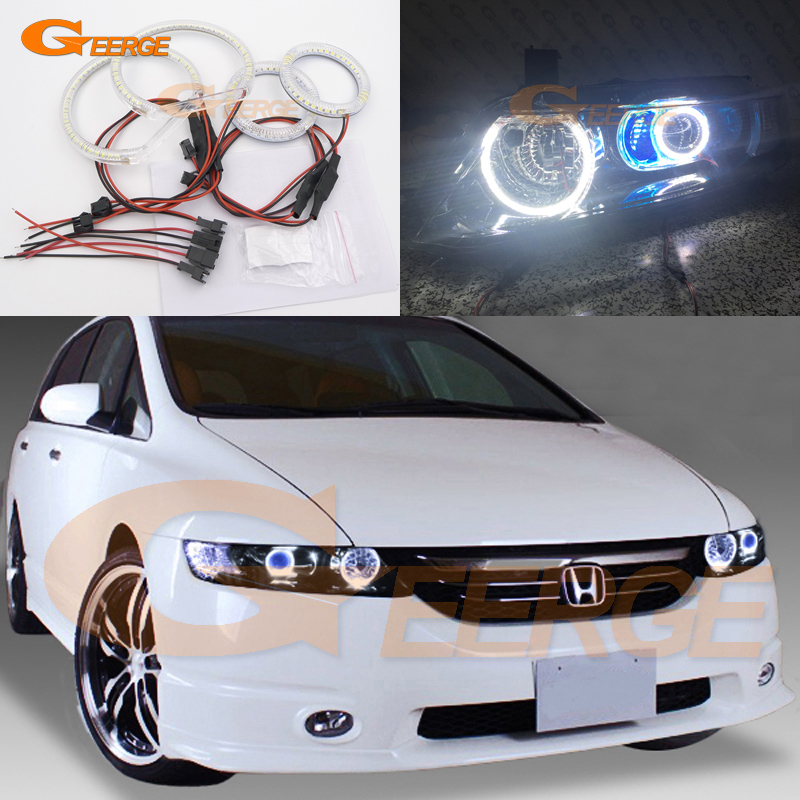 For HONDA ODYSSEY JDM RB1 RB2 2003-2008 XENON HEADLIGHT Excellent angel eyes Ultra bright illumination smd led Angel Eyes kit новый генератор подходит для honda accord odyssey 2 3l f20b 2 0l oem 31100 p5m 0030