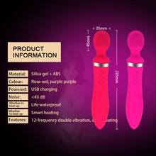 12 Frequency Female Silicone G  Spot Vibrator Juguetes Sexuales Silent Design Double Vibration Heating Vibrators For Women