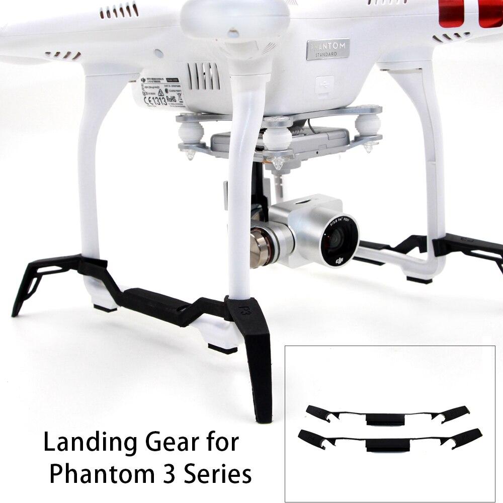 TELESIN carrello di Atterraggio Allungato Accresciuta Landing Skid Stabilizzatori Gimbal Protector Guard per DJI Phantom3 Droni Quadcopter