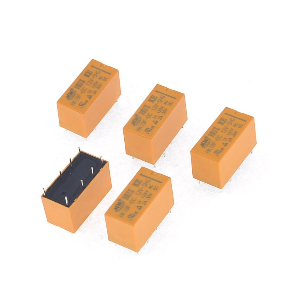 цена на 10 pcs High Quality 8 Pins RELAY 12V DC Coil Power Relay PCB HK19F-DC12V-SHG