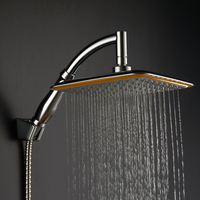 Large Square ABS Chrome Water Rains Shower Head With Extension Arm Bathroom Set For Bathroom Luxury