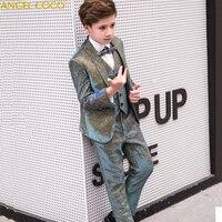 5PCS/SET Boys Suits Weddings Kids Prom Suits Wedding Suits Boys Tuexdo Big Children Clothes Set Boy Formal Classic Costume