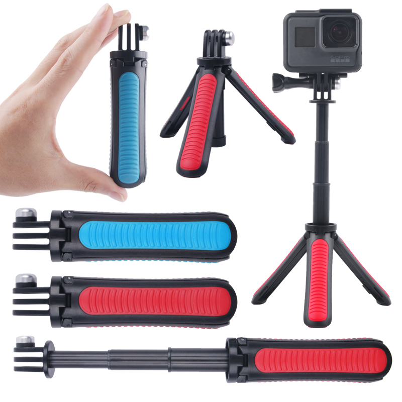 Image 5 - Tekcam Tripod Selfie Stick Mount for Go pro hero 7/6/5/4 Gopro Session Mount SJCAM SJ6 SJ7 SJ8 SJ5000/XIAOMI YI 4K Lite Eken h9r-in Sports Camcorder Cases from Consumer Electronics