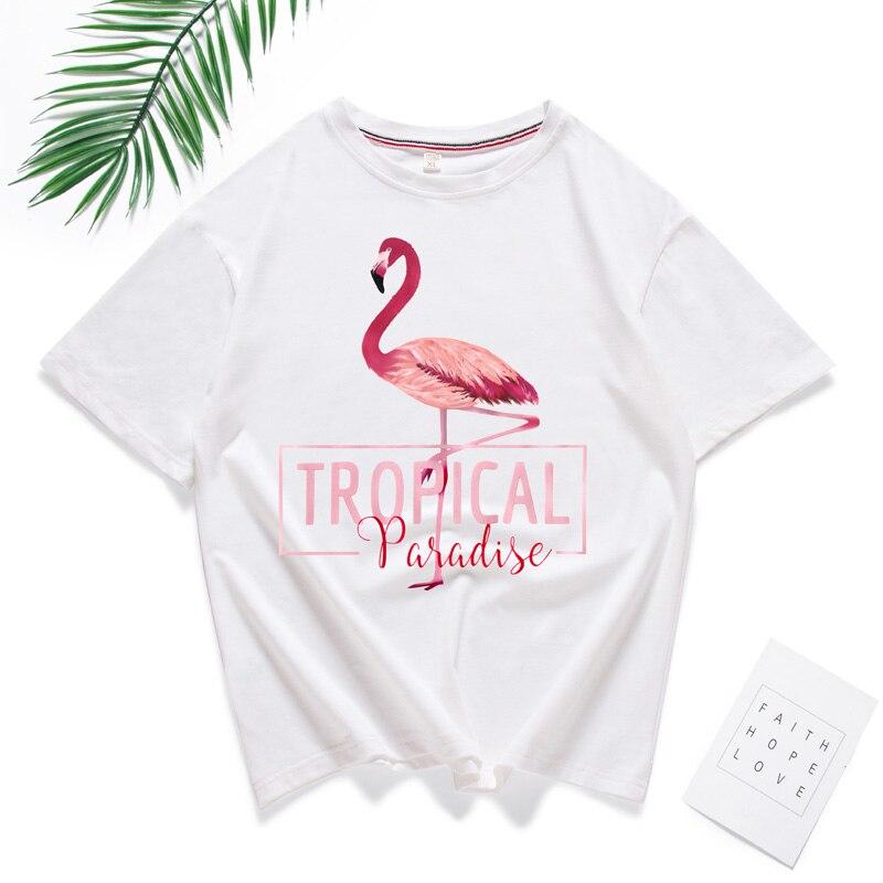 1d1c5c44c68a27 Tropical Flamingo Printed Hawaii Party Women's T-Shirt - partyshirtz