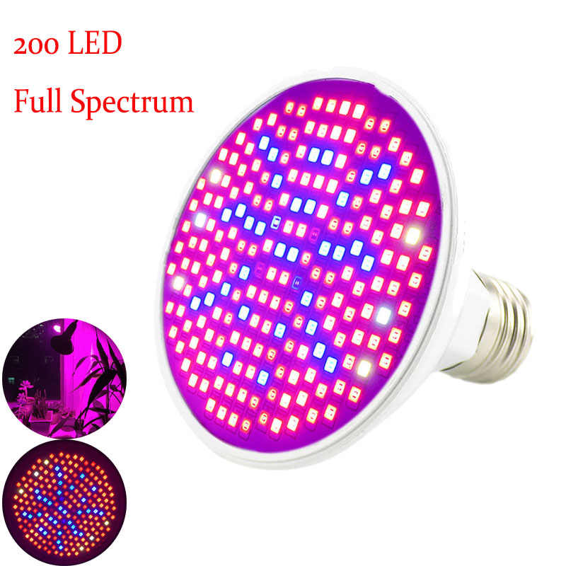 Full Spectrum 200 Led Plant Grow Lamp Flower Growth Light UV IR Bulbs Hydroponic Seeds Vegetable Tent Lighting Greenhouse Lamps