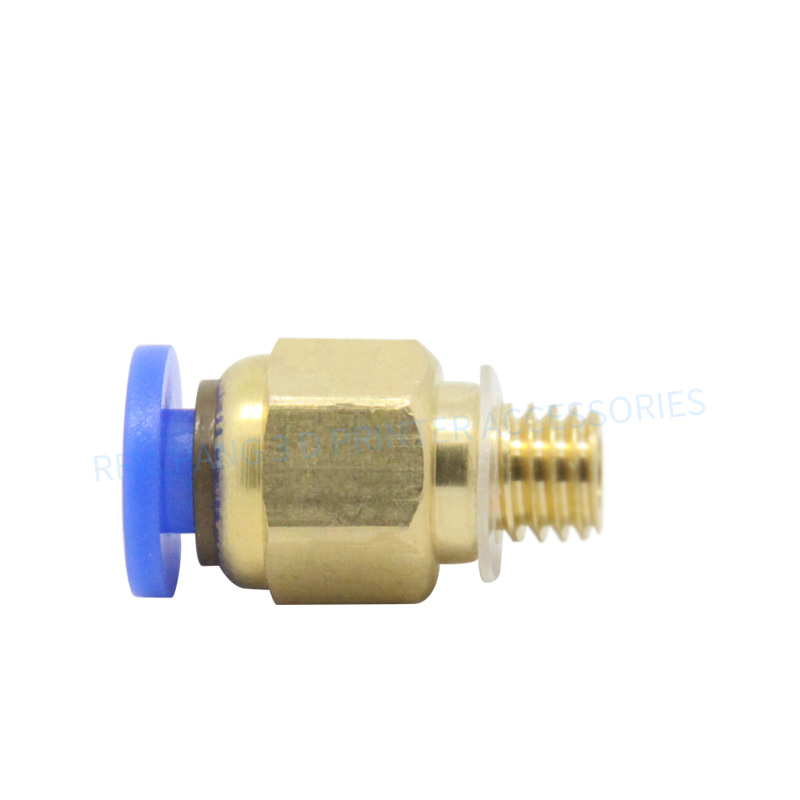 6pcs/lot 3D Printer Hot Head PC4-M6 Fitting Connectors for OD 4mm Ptfe Tube M6 6mm Connector Extruder Feed for 3mm Filament