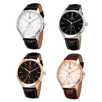 Men S Black Tainless Steel Case Sautomatic Watch PU Leather Watchband Round Dial Business Casual Wristwatch