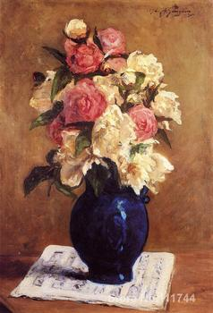 Paul Gauguin paintings of Boquet of Peonies on a Musical Score modern impressionism art High quality Hand painted