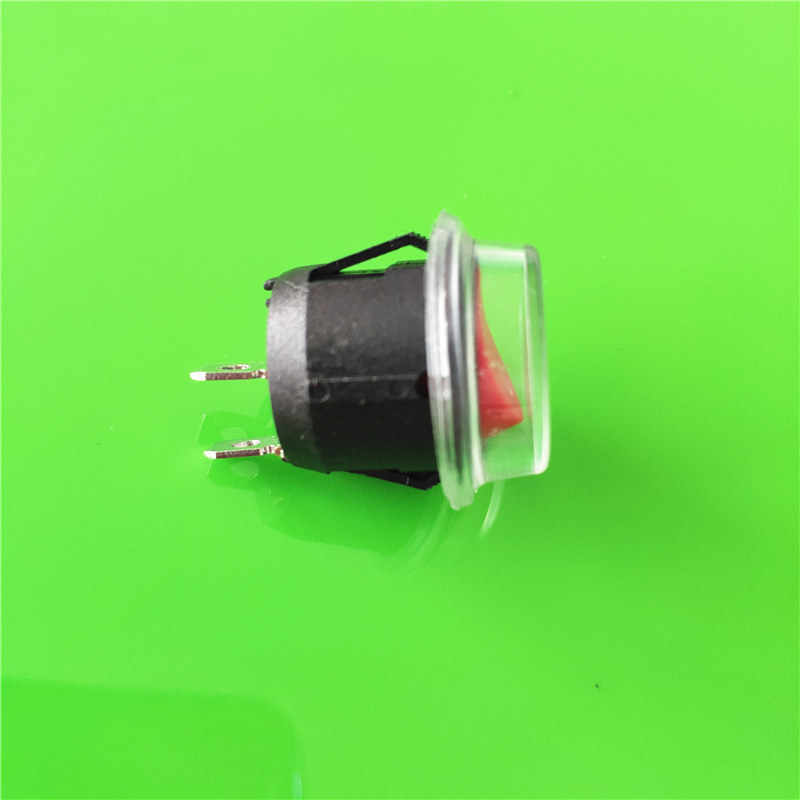 DC AC 6A/250 V KCD1 2PIN 20 Mm Pada/Off G149Y Bulat Perahu Rocker Switch Tahan Air cap Mobil Dash Dashboard Mengikuti Dropshipping