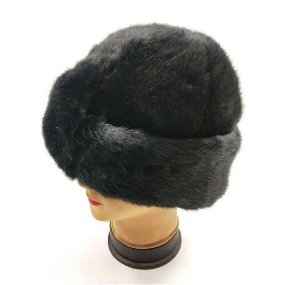 f71f4d29 2018 Elegant Winter Warm Headband Ladies Bone Earwarmer Women Faux Fur  Patchwork Vintage Snow Hats Black