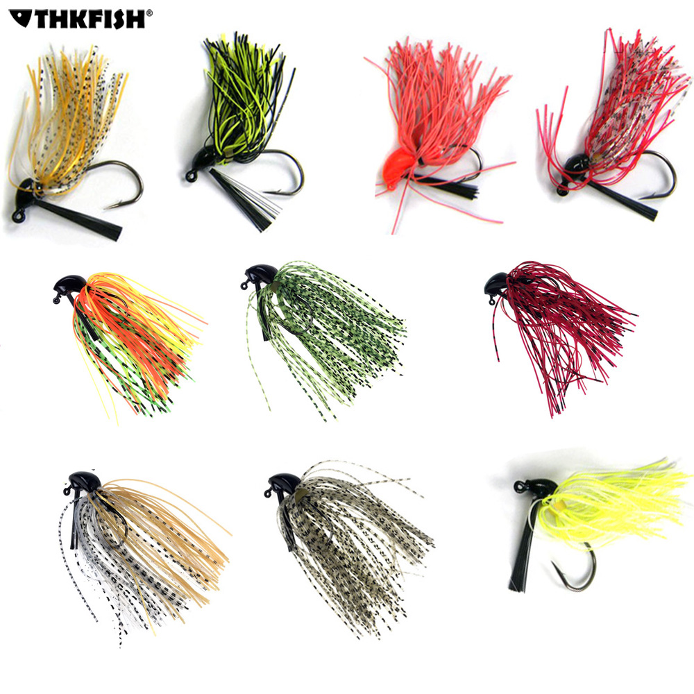 10Pcs 7g 10g 14g Skirt Lure Lead Jigs Head Hook Bass Jigs Rubber Artificial Baits River Fishing Buzz Jig head Hooks Fishing Lure 5g 7g 10g lead sinker fishing accesories tools soft lure baits texas group with crank hook new 5 6 8 pcs pack outdoor