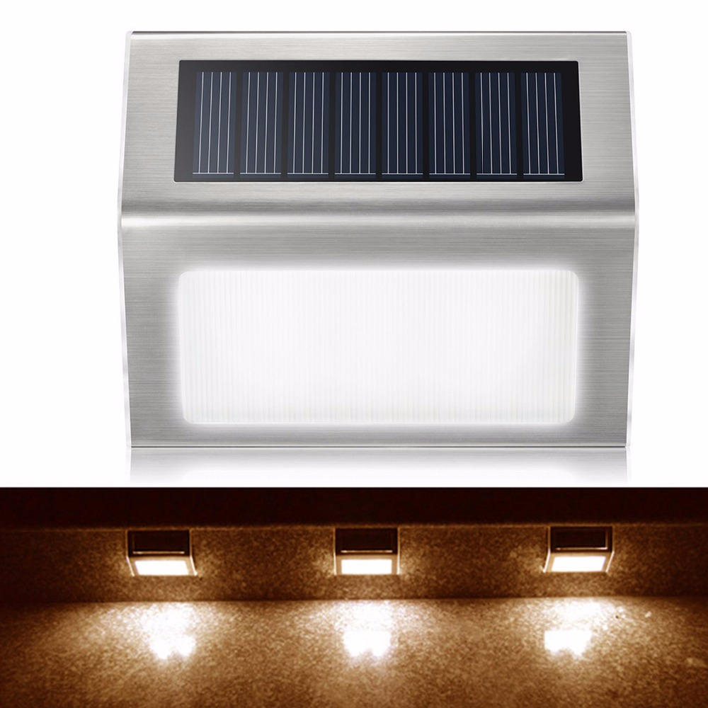Automatic Light Control 2 Leds Solar Power Led Outdoor Lights Ip44 Garden Pathway Stairs Lamp Light Energy Saving Solar Lamp
