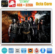 Envío libre 10 pulgadas tablet pc Octa core 3G 4G LTE 1280*800 5.0MP 4 GB 32 GB Android 5.1 Bluetooth GPS 7 9 10.1 tabletas