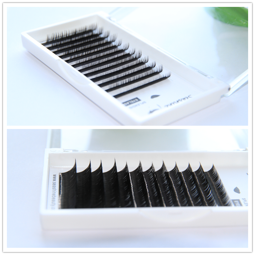 Human Hair Individual Eyelashes CD Curl Professional Eyelash Extensions high-quality volume eyelash 100% hand made
