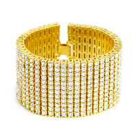 MCSAYS Men Jewerly Hip Hop Style High Quality Bracelet Alloy 12 Row Crystal Tennis Chain CZ