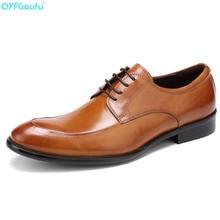 Mens Dress Leather Shoes Fashion Men Wedding Comfortable Breathable Genuine Banquet