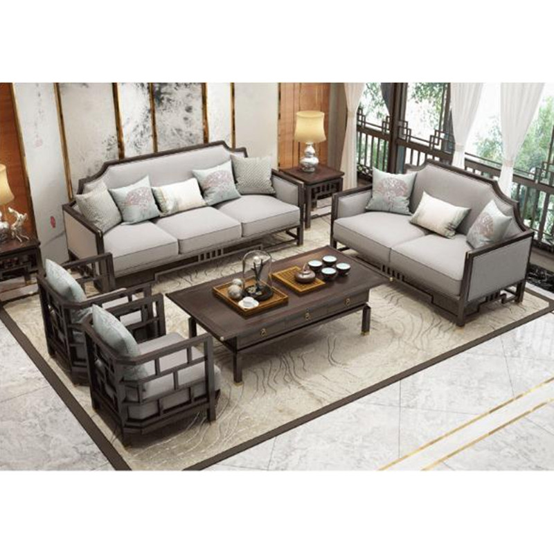 US $4062.68 |sofa set living room furniture Modern Chinese design Wooden  muebles love seat livingroom set sofas solid wood couch end table-in Living  ...
