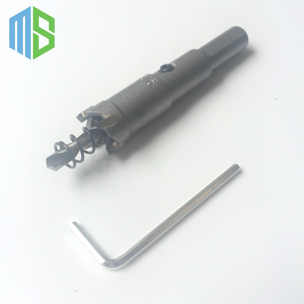 16mm Metalworking tungsten Carbide Tip Drill Bit TCT Hole Saw Set for Stainless Steel Metal Alloy Drilling
