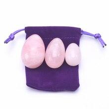 Rose Quartz Jade Egg Pink Stone Yoni Egg without Hole Feminine Hygiene Product f