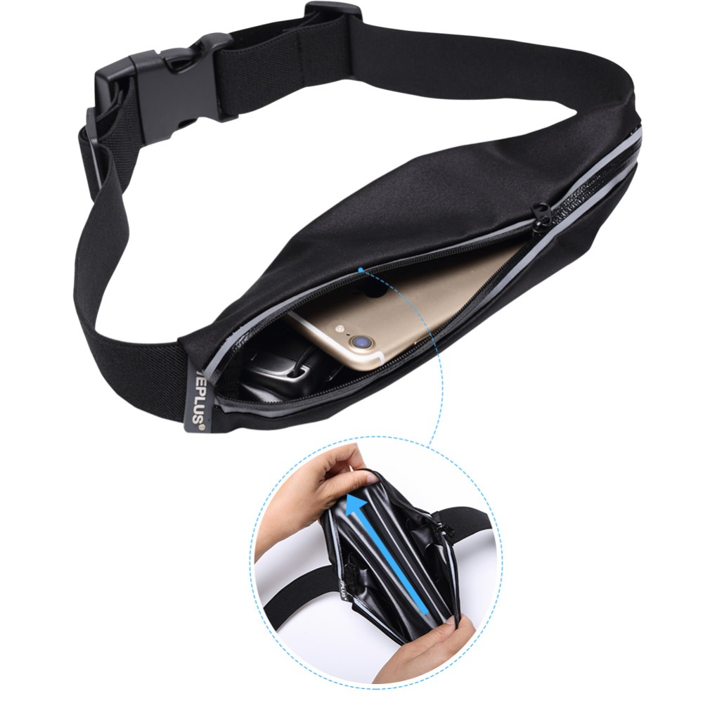 Waist Bag fanny pack Pocket Water resistant black for Man Women Bum Bags Pouch Casual Traveling Women Belt bags small girl black rewin wb 9025 handy 2 pocket 5 holder water resistant dacron waist tool bag black yellow