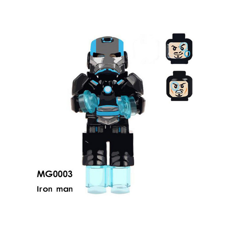 Single Sale Super Heroes Star Wars MG0003 Iron Man Model Mini Building Blocks Figure Bricks Toys Gifts Compatible Legoed Ninjaed