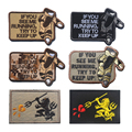 50 PCS EOD IF YOU SEE ME RUNNING US ARMY Military Embroidered Tactical Morale Patch Hook & Loop Embroidery Badge Wholesale