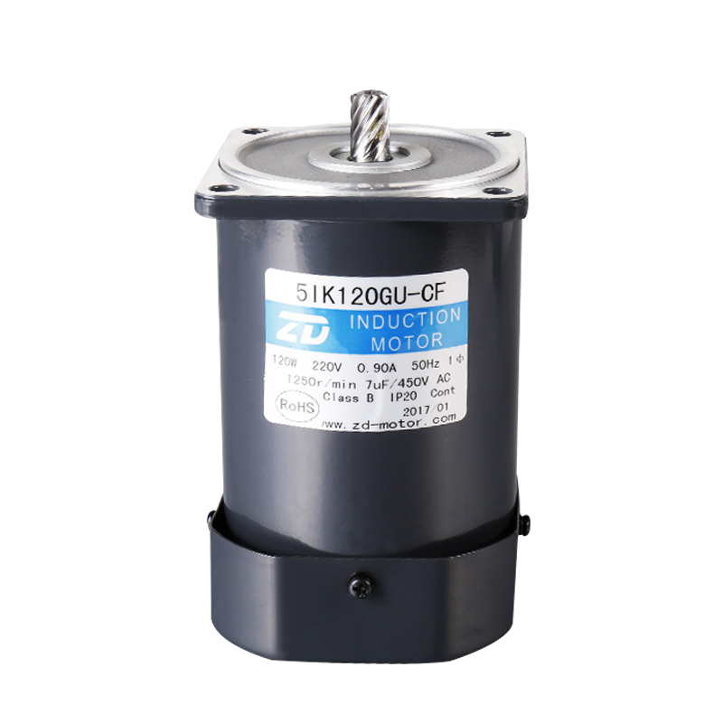 Zhongda micro 90mm120w single three-phase AC gear reducer asynchronous brake motor small motor
