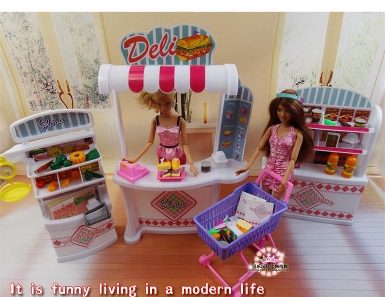Original Princess Supermarket  For Barbie Kurhn Licca Store 1/6 Bjd Doll Accessories Dream House Furniture Child Toy Gift