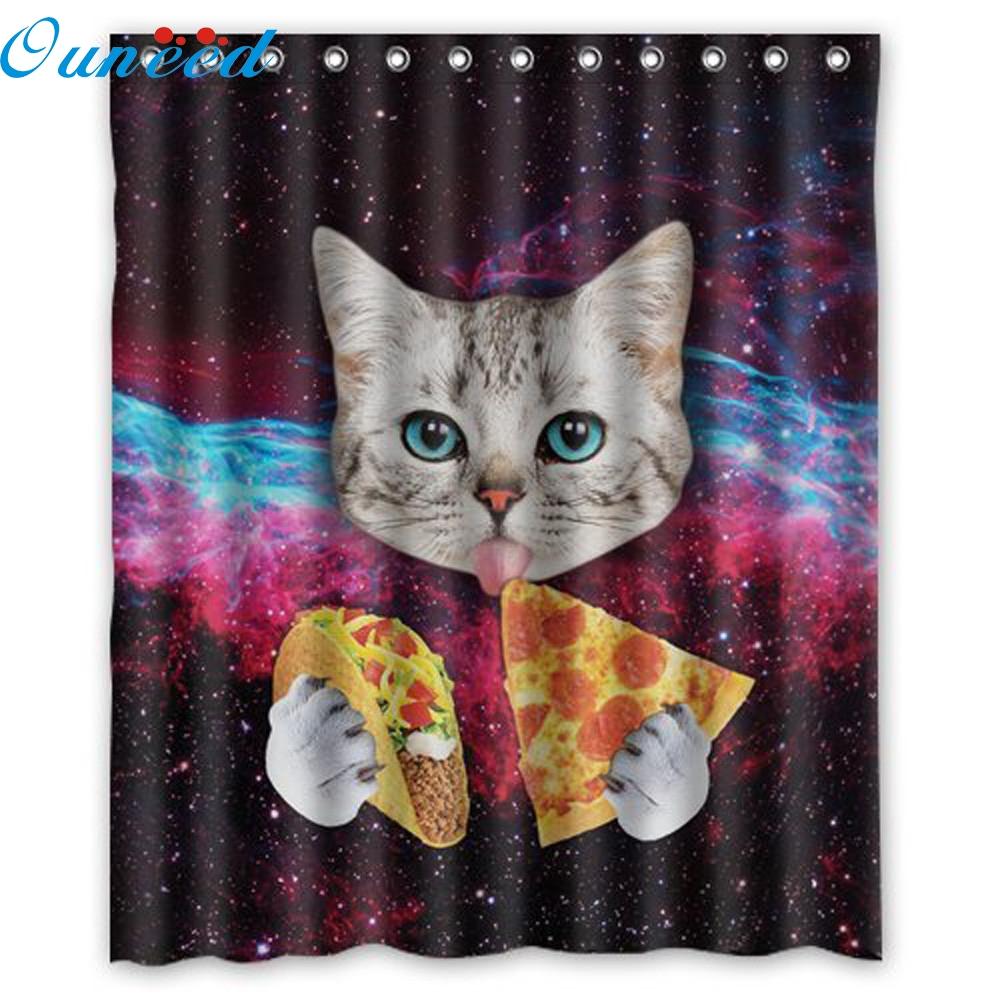 2017 My House Decor cat polyester Waterproof Bathroom Shower Curtain New Hot Sell 17M20
