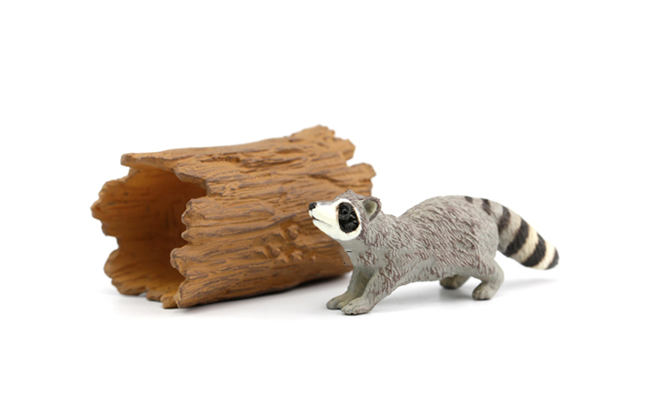 Collectible Figurine Raccoon-Model Rement Japan Kids Gift Original Wild Animal Educational-Toy