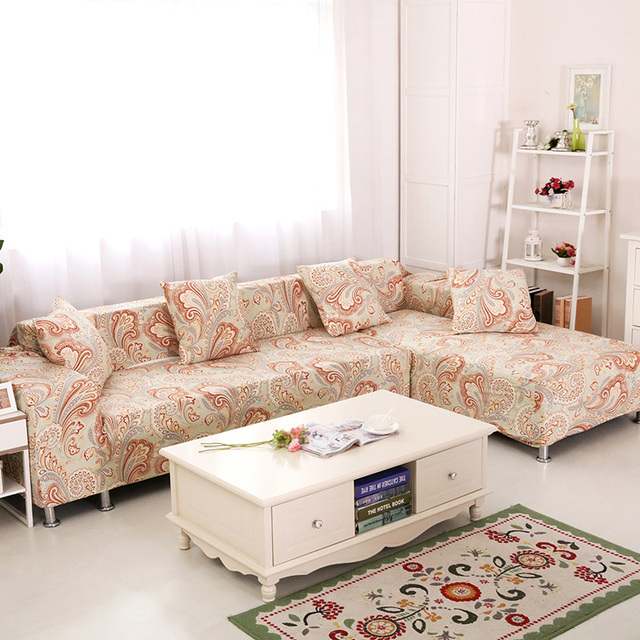 Perfect 2pcs Bohemian Style Sectional Covers For Living Room Universal Stretch  Furniture Covers Polyester 2pcs Cushion Covers