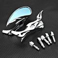 A Pair Universal Motorcycle Chrome Flame Rearview Mirrors Custom Bike Chopper Blade Teardrop Side Rear View Mirrors for Cruisers