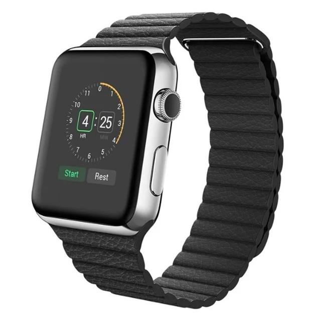 Para a apple watch band 38mm mulheres genuineleather banda laço com adaptador para iwatch pulseira banda cinta fivela magnética