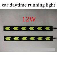 High Power 2 Pcs DRL Daytime Running Light 6 Leds 12W Car Styling Light Source DC