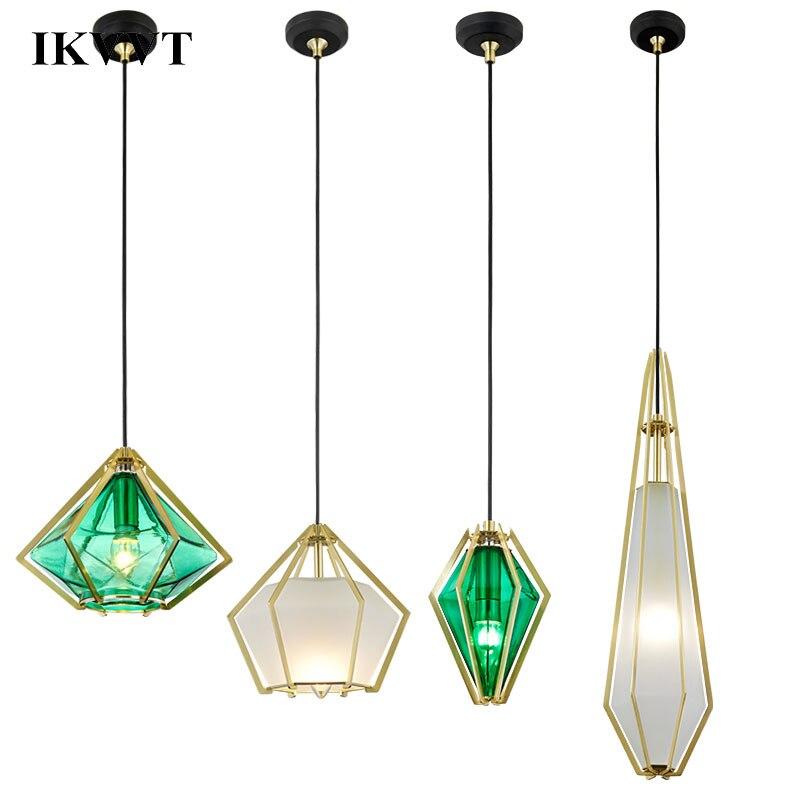 Здесь можно купить  IKVVT Nordic Loft Birdcage Pendant Lights Iron Minimalist Retro Hand Lamp Dining room Pendant Lamps Indoor Decoration Home Light  Свет и освещение