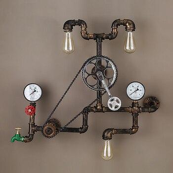 Vintage Retro Loft Industrieel Waterleiding Wandlamp 4