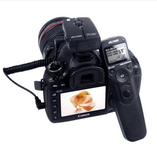 캐논 EOS 300D, 350D, 400D, 450D, 500D, 550D, 600D 용 Viltrox JY-710 무선 셔터 릴리즈 타이머 리모콘
