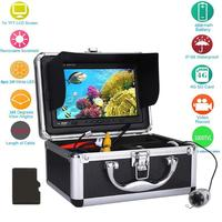 1000TVL HD Fish Finder Underwater Fishing Camera Kit LED Infrared Lamp Lights Video Fish Detector DVR IP68 Waterproof