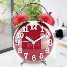 Silent Alarm Clock Quartz Alarm Clock Fashion Double Bell Spherical Gift Children Timer Digital Display цена в Москве и Питере